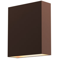 Flat Box LED 7 inch Textured Bronze Indoor-Outdoor Sconce