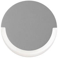 Sonneman Inside-Out Crcl - LED Sconce - Textured Gray Finish - Frosted Shade 7210.74-WL