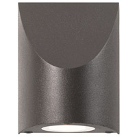 Sonneman 7222.72-WL Shear LED 5 inch Textured Bronze Indoor-Outdoor Sconce, Inside-Out