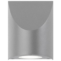 Shear LED 5 inch Textured Gray Indoor-Outdoor Sconce, Inside-Out