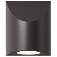 Shear LED 6 inch Textured Bronze Indoor-Outdoor Sconce, Inside-Out