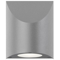 Shear LED 6 inch Textured Gray Indoor-Outdoor Sconce, Inside-Out
