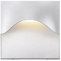 Tides LED 8 inch Textured White Indoor-Outdoor Sconce, Inside-Out