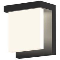 Glass Glow LED 6 inch Satin Black Indoor-Outdoor Sconce, Inside-Out