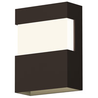 Band LED 8 inch Textured Bronze Indoor-Outdoor Sconce, Inside-Out