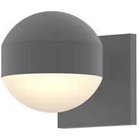 Reals LED 5 inch Textured Gray Indoor-Outdoor Sconce, Inside-Out