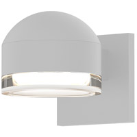 Reals LED 4 inch Textured White Indoor-Outdoor Sconce, Inside-Out