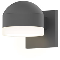 Reals LED 4 inch Textured Gray Indoor-Outdoor Sconce, Inside-Out