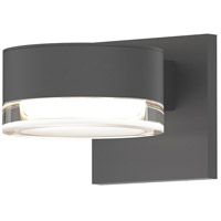 Reals LED 3 inch Textured Gray Indoor-Outdoor Sconce, Inside-Out