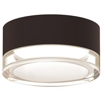 Reals LED 5 inch Textured Bronze Semi-Flush Mount Ceiling Light