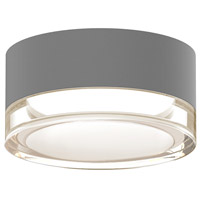 Reals LED 5 inch Textured Gray Semi-Flush Mount Ceiling Light