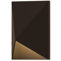 Triform Compact LED 5 inch Textured Bronze Indoor-Outdoor Sconce, Inside-Out
