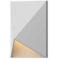 Triform Compact LED 5 inch Textured White Indoor-Outdoor Sconce, Inside-Out