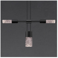 Suspenders LED 58 inch Satin Black Modular Pendant Composition Ceiling Light