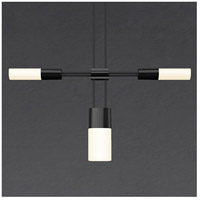 Suspenders LED 102 inch Satin Black Modular Pendant Composition Ceiling Light