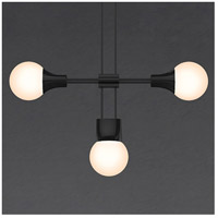 Suspenders LED 46 inch Satin Black Modular Pendant Composition Ceiling Light
