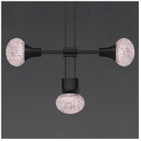Suspenders LED 57 inch Satin Black Modular Pendant Composition Ceiling Light