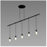 Satin Black Metal Island Lights