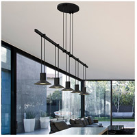 Suspenders LED 36 inch Satin Black Linear Pendant Ceiling Light