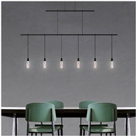 Suspenders LED 48 inch Satin Black Linear Pendant Ceiling Light