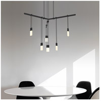 Suspenders LED 24 inch Satin Black Pendant Ceiling Light