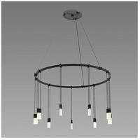 Sonneman S1E24K-JC06XX09-RP02 Suspenders LED 26 inch Satin Black Pendant Ceiling Light