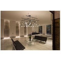 Suspenders LED 43 inch Satin Black Pendant Ceiling Light