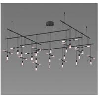 Sonneman S1H48K-SR180612-SC01 Suspenders LED 55 inch Satin Black Pendant Ceiling Light