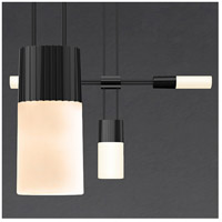 Suspenders LED 161 inch Satin Black Modular Pendant Composition Ceiling Light