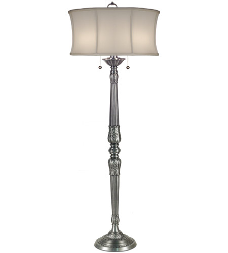 pw signature 62 inch 100 watt pewter floor lamp portable light photo. Black Bedroom Furniture Sets. Home Design Ideas