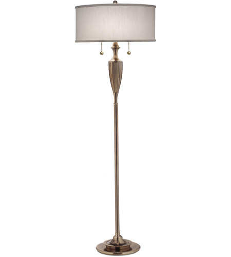 59 inch 100 watt burnished brass floor lamp portable light photo. Black Bedroom Furniture Sets. Home Design Ideas