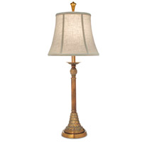 Signature 34 inch 150 watt Polished Honey Brass Table Lamp Portable Light