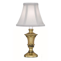 Stiffel CL-6636-A780-BB Signature 12 inch 40 watt Burnished Brass Candle Lamp Portable Light