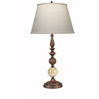 Stiffel TL-2111-3024-OB Signature 30 inch 150 watt Oxidized Bronz With Green Onyx Table Lamp Portable Light