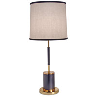Stiffel TL-5855-4TUB-BKG Signature 30 inch 100 watt Matte Black and Poished Gold Table Lamp Portable Light