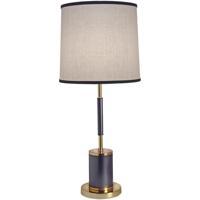 Stiffel TL-5855-4TUB-BKG Signature 30 inch 100 watt Matte Black and Poished Gold Table Lamp Portable Light
