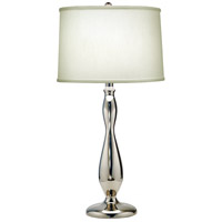 Signature 28 inch 150 watt Polished Nickel Table Lamp Portable Light