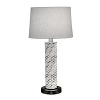 Stiffel TL-6667-LCF-ACR-SVPC Ellie 29 inch 150.00 watt Silver PC/Opal Acrylic Table Lamp Portable Light