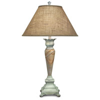 Signature 35 inch 150 watt Distressed White Table Lamp Portable Light