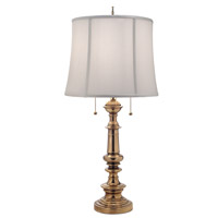 Signature 32 inch 100 watt Burnished Brass Table Lamp Portable Light