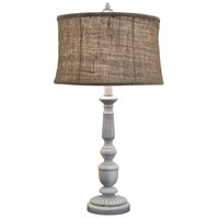 Signature 29 inch 150 watt Distressed White Table Lamp Portable Light