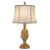 Signature 30 inch 150 watt Polished Honey Brass Table Lamp Portable Light