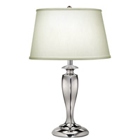 Signature 27 inch 150 watt Polished Nickel Table Lamp Portable Light