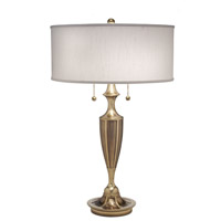 Signature 27 inch 100 watt Burnished Brass Table Lamp Portable Light