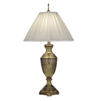 Signature 32 inch 150 watt Burnished Brass Table Lamp Portable Light
