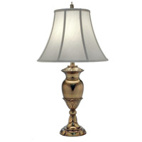 Signature 31 inch 150 watt Burnished Brass Table Lamp Portable Light