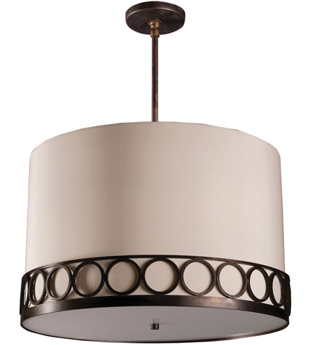 Hand Rubbed Bronze Linen Astoria Pendants