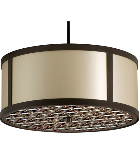 Stonegate SBREP10L2-RB-206 Brentwood LED 30 inch Hand Rubbed Bronze Pendant Ceiling Light in LED 120-277V, Ivory Silk Dupioni photo thumbnail