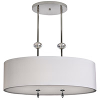Stonegate SATHP05MB-PN-209 Athens 3 Light 14 inch Polished Nickel Pendant Ceiling Light in White Silk Dupioni