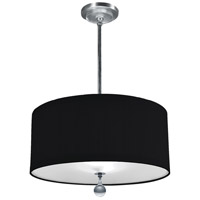 Stonegate SAUDP03L1-PN-203 Audrey LED 32 inch Polished Nickel Pendant Ceiling Light in LED 120V Black Silk Dupioni